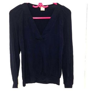 Michael Kors navy blue jersey work top! Size XS